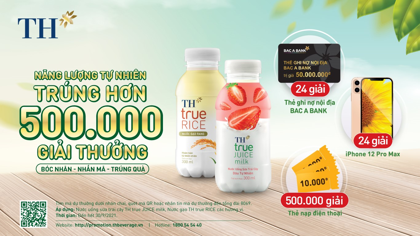 500.000 giải thưởng khi mua đồ uống hoàn toàn tự nhiên mùa hè này