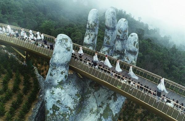 Hình ảnh: Cầu Vàng, một 'sứ giả' của du lịch Việt số 1